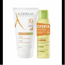 A-derma - Protect AD Creme SPF50+ 150 ml + Oferta Oleo Exomega Control 100 ml