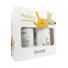 Babe - Happy Moments Duo Gel de Banho Pediátrico  500 ml + Leite Hidratante Corpo Pediátrico 500 ml