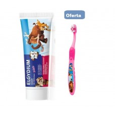 Elgydium Kids Gel Dentífrico sabor frescura morango 50 ml Oferta Escova Elgydium Kids Rosa