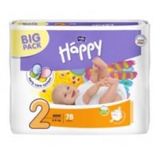 Fralda Happy Nº2 (3-6 kg)78 unidades