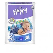 Fralda Happy Nº3 (5-9 kg) 72 unidades