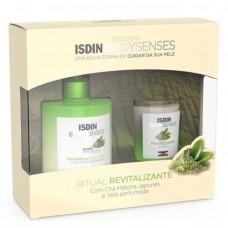 Isdin Bodysenses Ritual Revitalizante Loção Corporal de Chã Matcha 500ml e Vela Perfumada