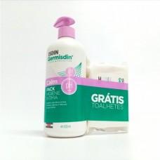 Isdin Germisdin Calm Ph Ácido 500 ml Grátis Toalhetes Higiene íntima 20 unidades