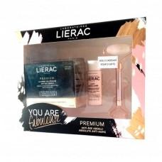 Lierac Coffret You Are Fabuleuse Premium Creme Voluptuoso 50ml + Oferta Leite Micelar 30ml e Rolo Facial de Quartzo Rosa