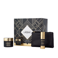 Lierac Coffret Premium Creme Voluptuosos 50ml oferta Premium o creme contorno de olhos 15 ml+Bolsa «rue des fleurs-monaco»