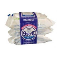 Mustela Toalhetes Rosto  Pack Económico 75 uni. Delicadamente Perfumados -Preço Especial