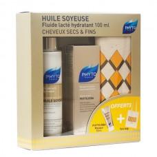 Phyto Huile Soyeuse Fluido Lãcteo Hidratante 100ml + Oferta Phytojoba Máscara Hidratante 50ml e Bolsa Phyto