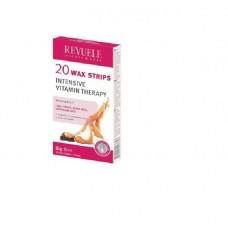 REVUELE®bandas de cera depilatorias, com Vitamina 20pcs.