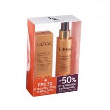 Lierac Sunissime Fluido Protetor Energizante rosto-40 ml SPF0 -50% Leite Protetor Energizante Corpo SPF30-150 ml