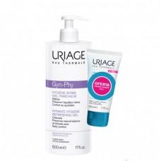 Uriage GYN-PHY Gel Refrescante Higiene Íntima- sem sabão 500 ml Oferta Creme Lavante 50 ml