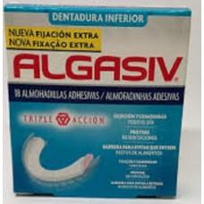 Algasiv Almofadinhas Adesivas Dentadura Inferior - 18 Unidades