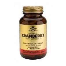 Solgar Cranberry Com Vitamina C 60 cápsulas