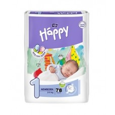 Fralda Happy Nº 1 (2- 5 kg) 78 unidades