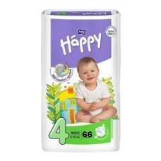 Fralda Happy Nº 4 (8-18 kg) 66 Unidades