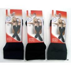 Mini meia térmica 3 pares  tamanho único de côr preta e cinza